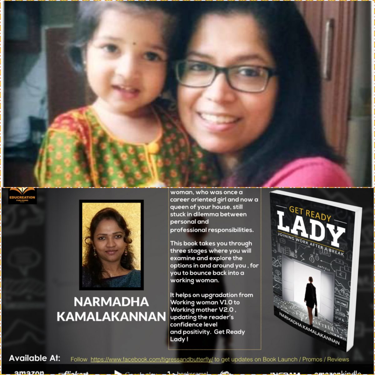 Motherhood and Career ~ A twist in the tale, explains Kirthika in her book Review : GET READY LADY