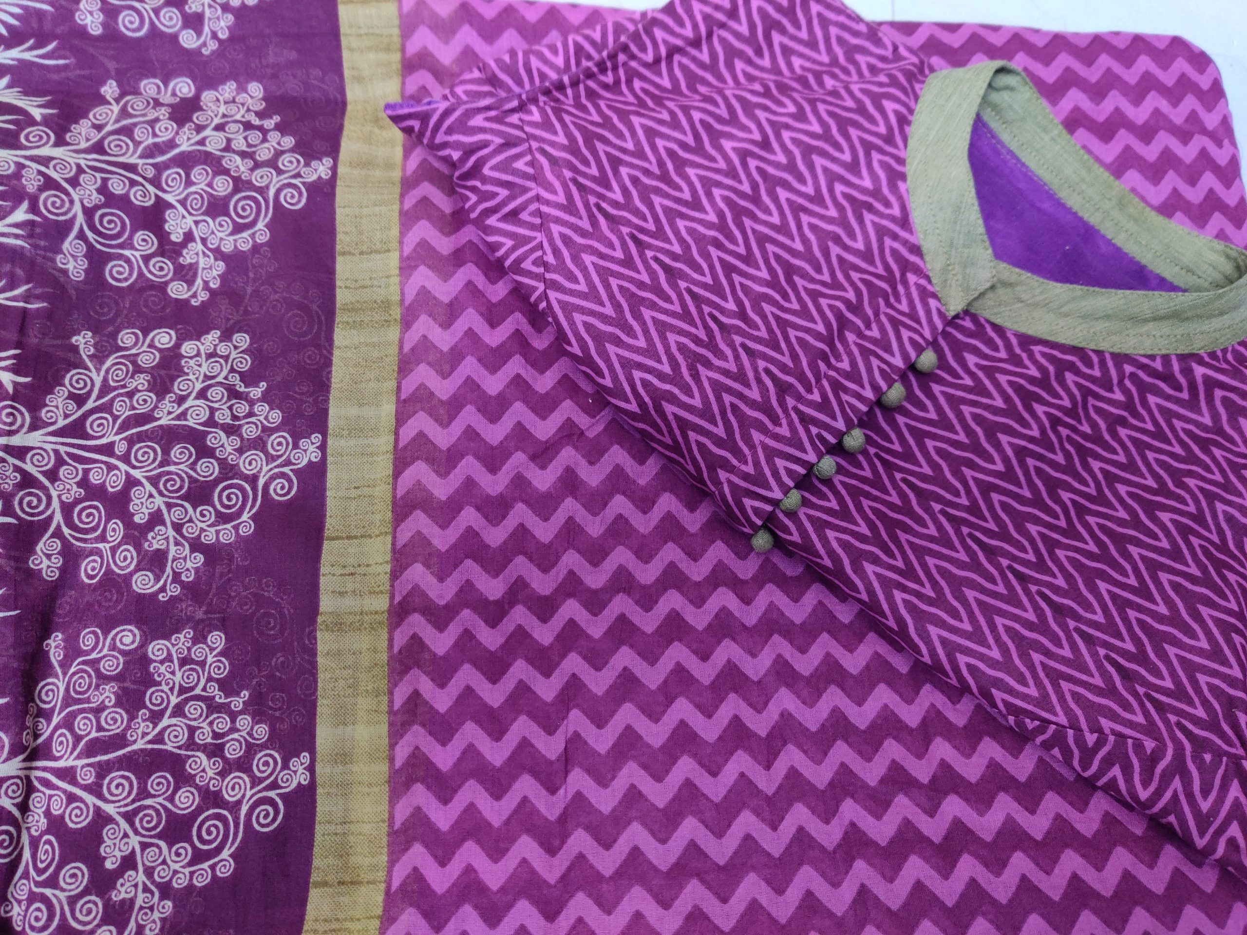 Saree-gama Karishma cotton purple