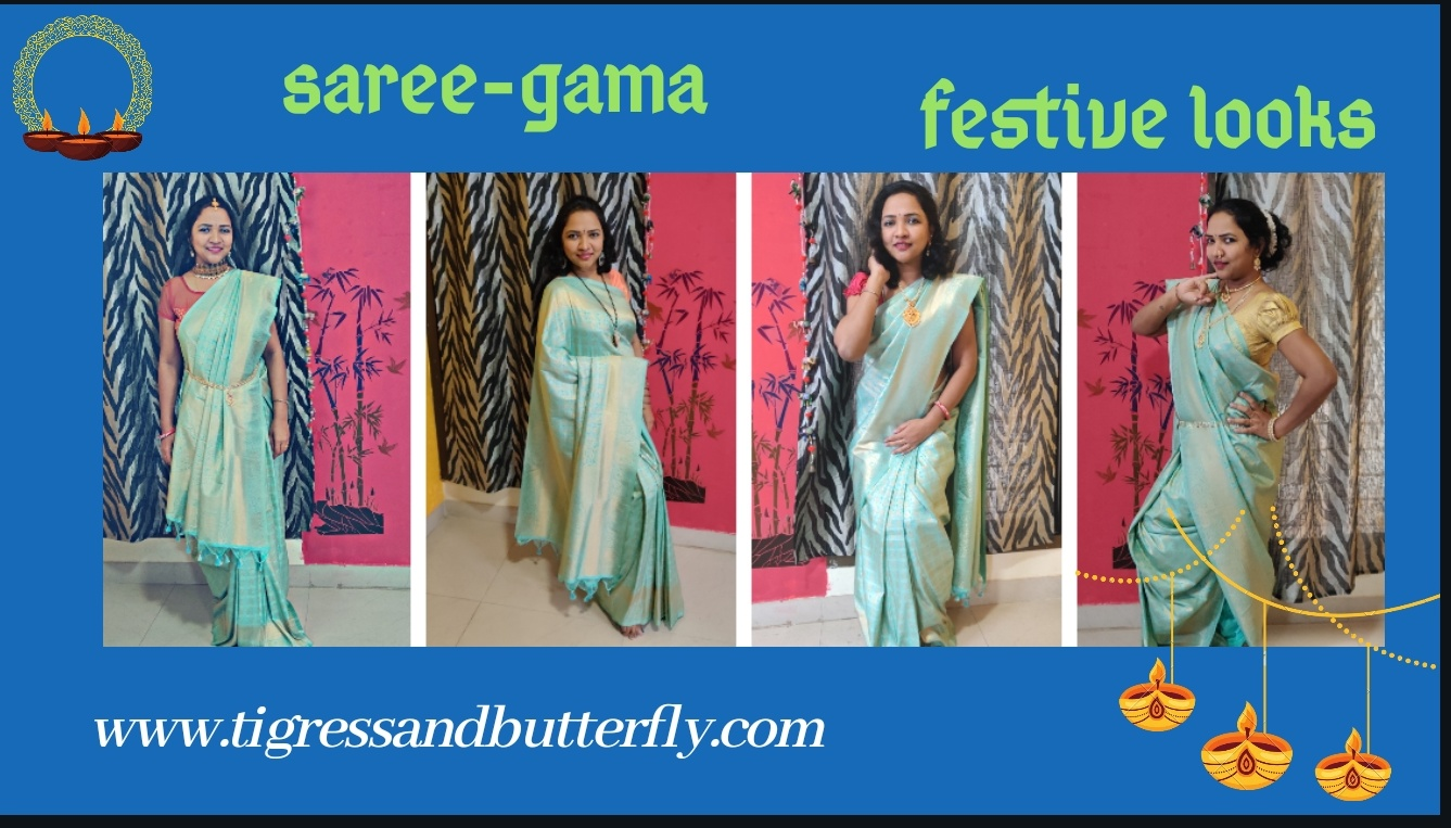 Saree-gama festive looks