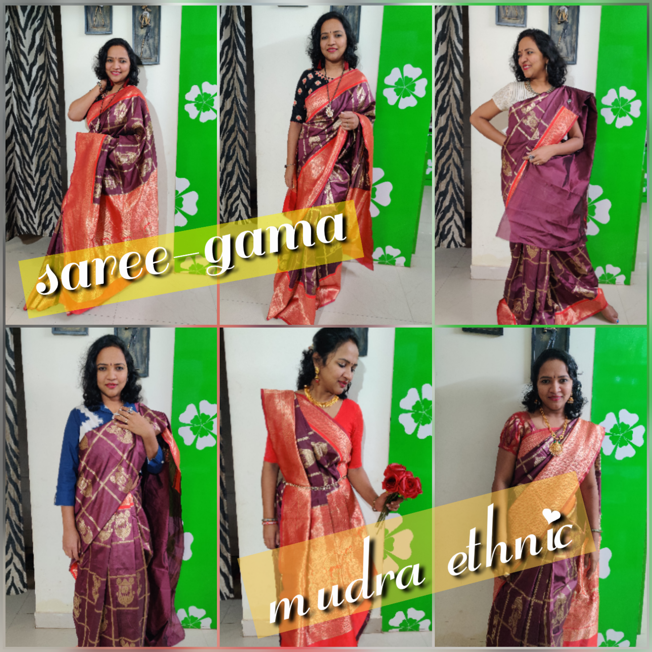 Saree-gama mudra ethnic