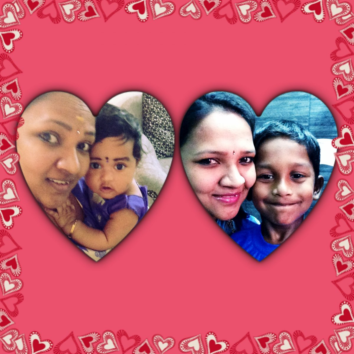 The mother with 2 hearts