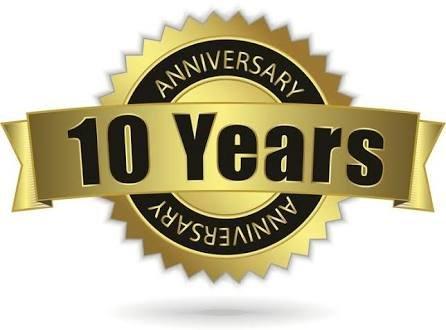 10th year work anniversary