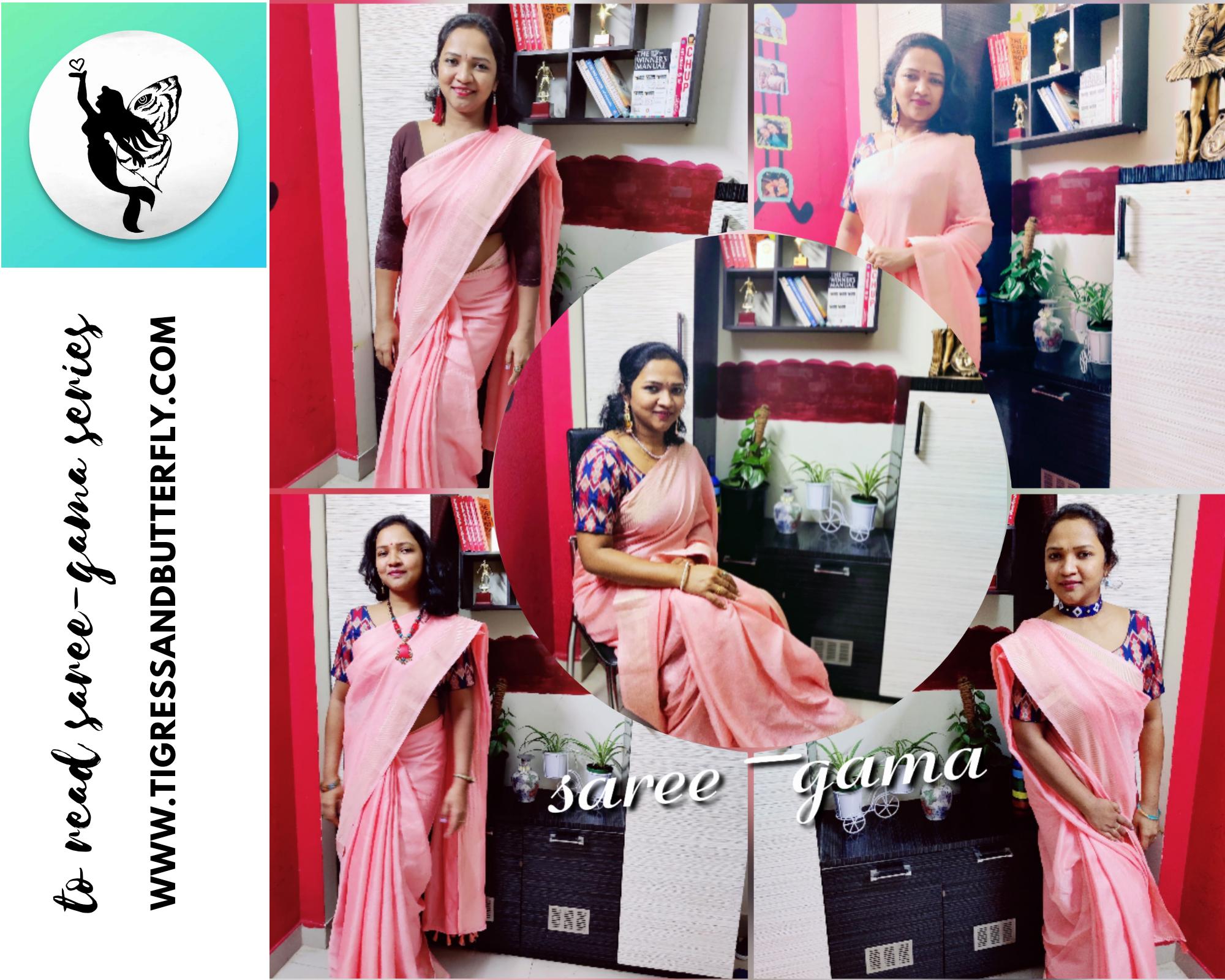 Saree-gama Knitted jute plain saree