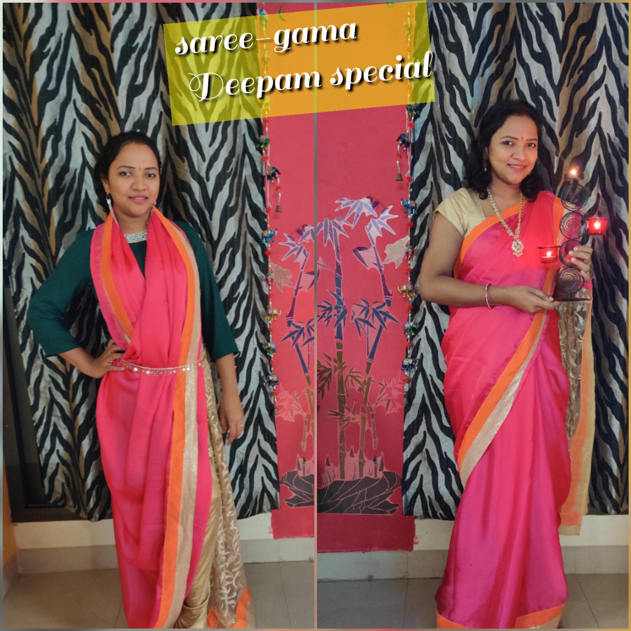 Saree-gama Deepam look